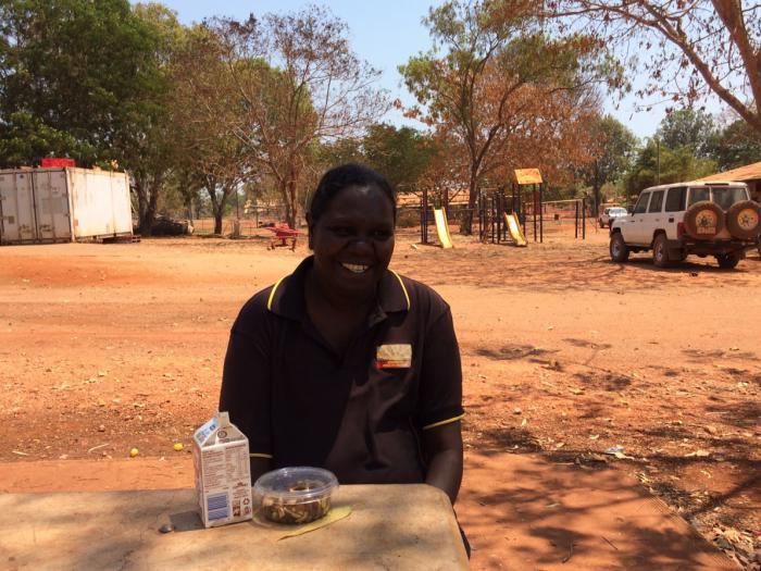 Margaret Lindsay in the NT community of Bulman