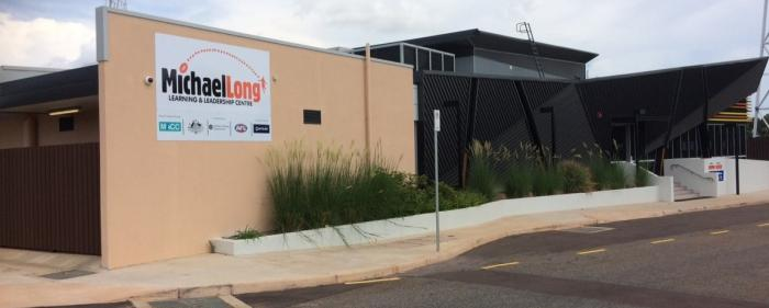 Image of the Michael Long academy building, based at Marrara Stadium in Darwin.