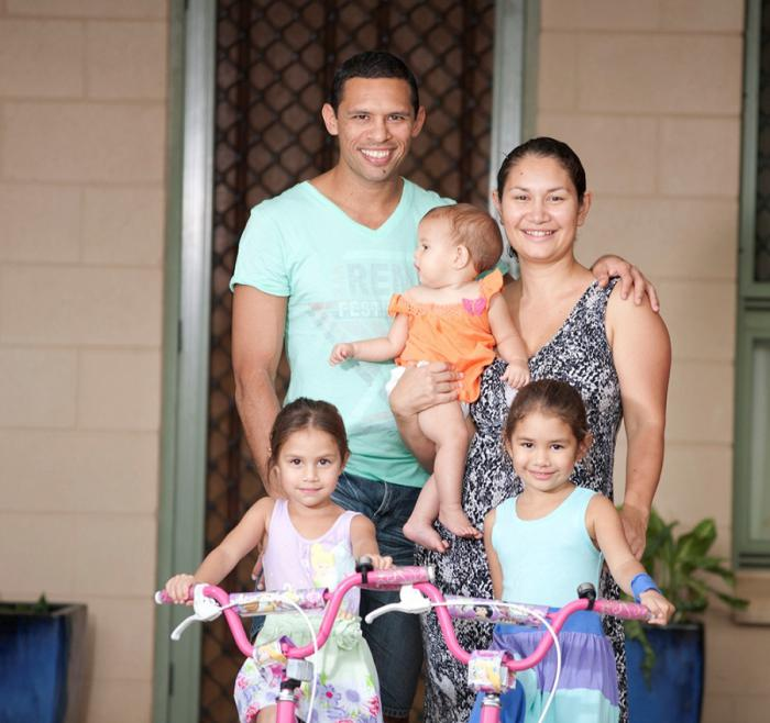 Six years after buying their first house, the growing Bonson family are moving to a new, larger home.