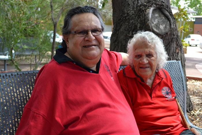 Robert Smith with his mother Ethel at Derbarl Yerrigan Health Service, Perth, WA