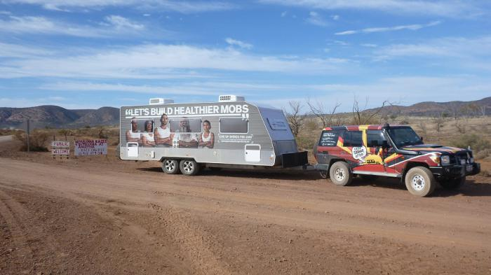 The Liitle Caravan of Fun stops off in Coober Pedy, SA