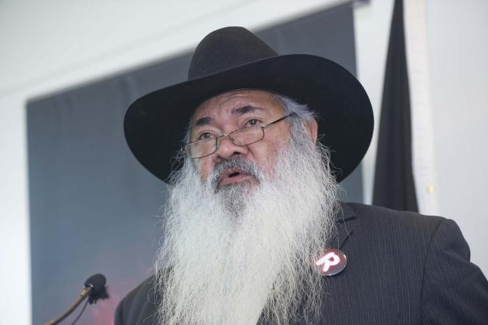 Expert Panel on Constitutional Recognition of Aboriginal and Torres Strait Islander Peoples co-chair Patrick Dodson promoting the Recognise campaign.