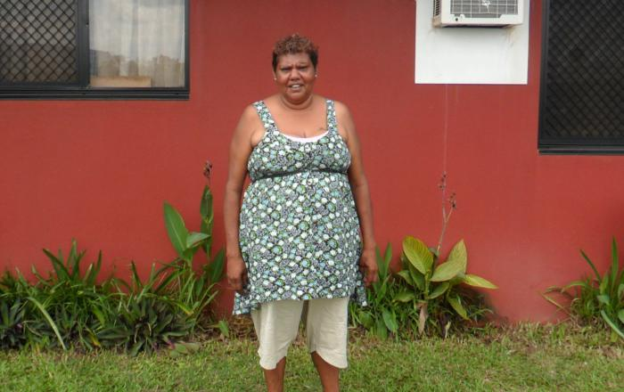 Geraldine Thimble, who runs the Pride in My Home program on Mornington Island.
