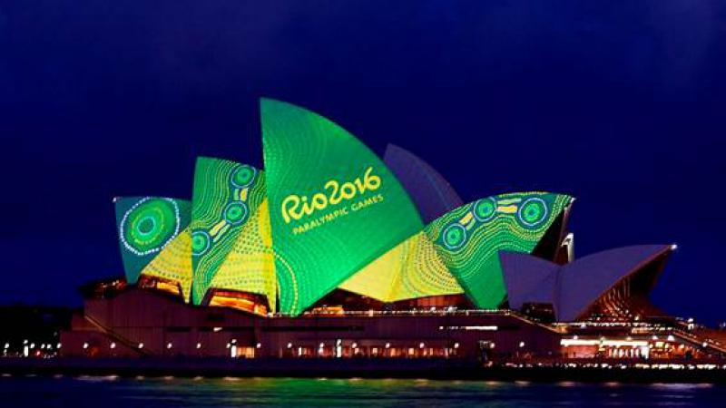 Balarinji and the Sydney Opera House combining to honour Australia's paralympians