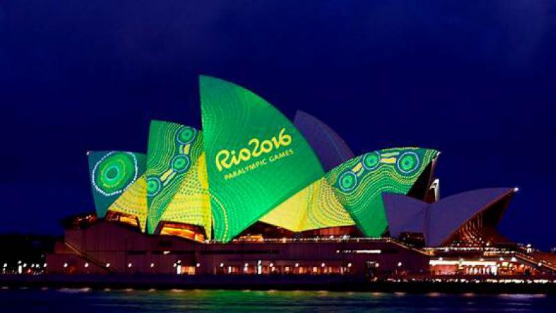 Balarinji and the Sydney Opera House combining to honour Australia's paralympians