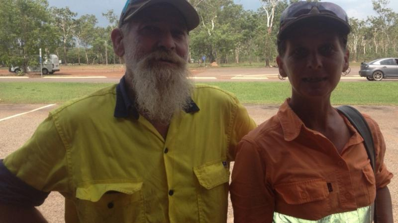 Ian Panchaud and Trudi Seagrott at Fogg Dam Conservation Reserve