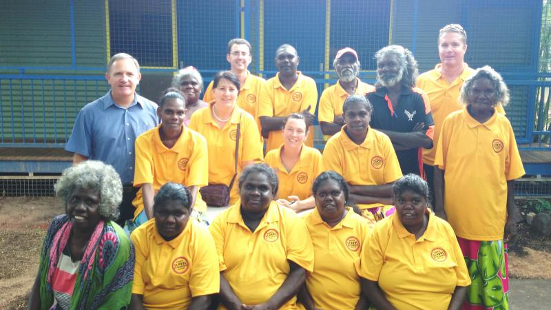 Galiwin'ku School Attendance Supervisors and Officers on the first day of school, term 1, 2014.