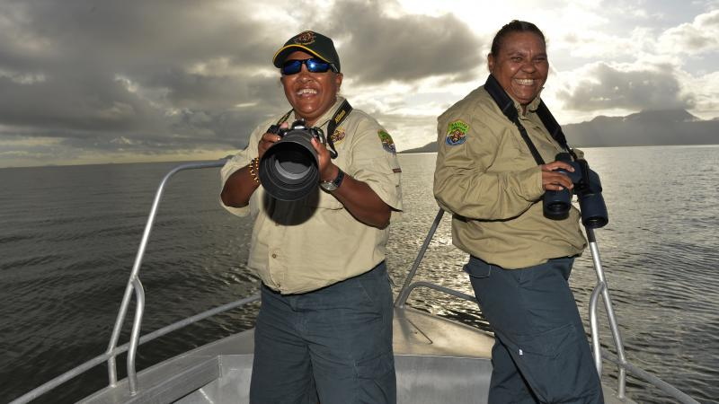 Girringun rangers Cindy-Lou Togo and Evelyn Ivey