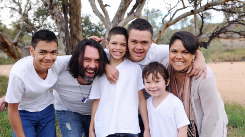 HPV Vaccination Programme ambassador Jacinta Price with her family.