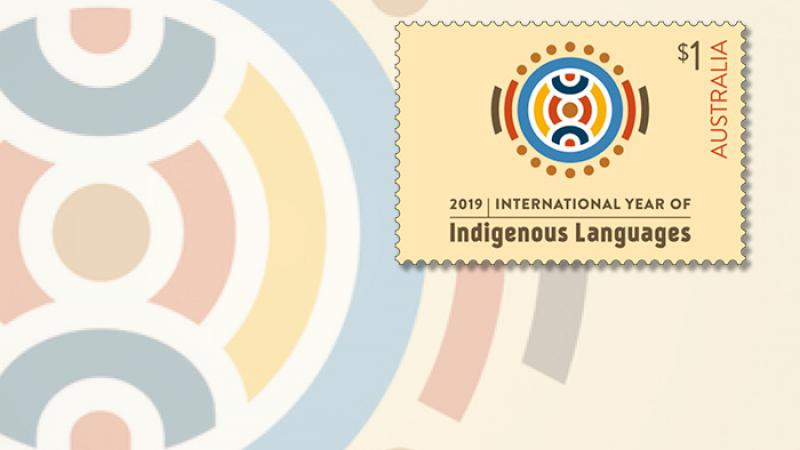 International Year of Indigenous Languages postage stamp