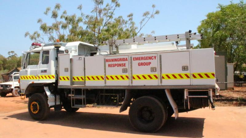 Maningrida's new fire truck ready for action.