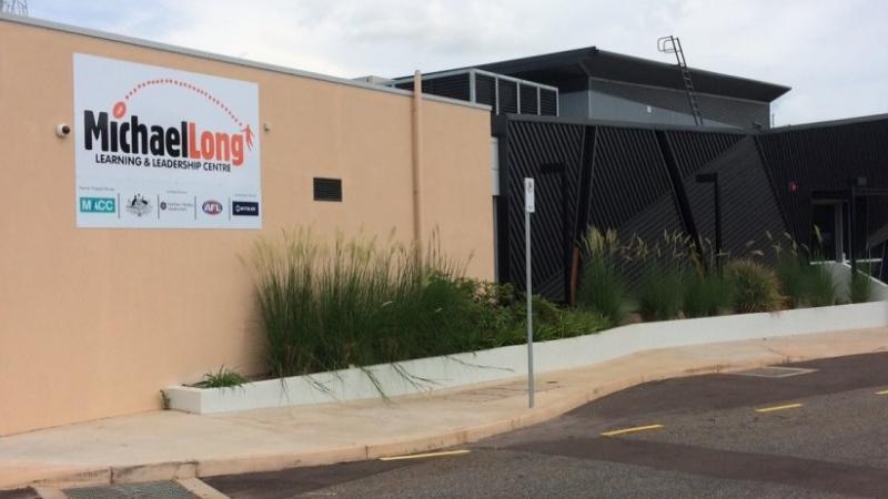 Image of the Michael Long academy building, based at Marrara Stadium in Darwin.