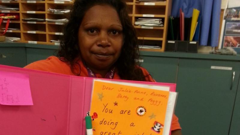 Mimili Anangu School Attendance Supervisor Julieanne Campbell