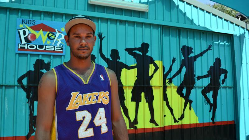 Djarindjin Youth Drop-In Centre's new coordinator, Simon Enosa.