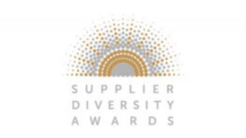 Image of half sun with radiating lines and the words Supplier Diversity Awards.