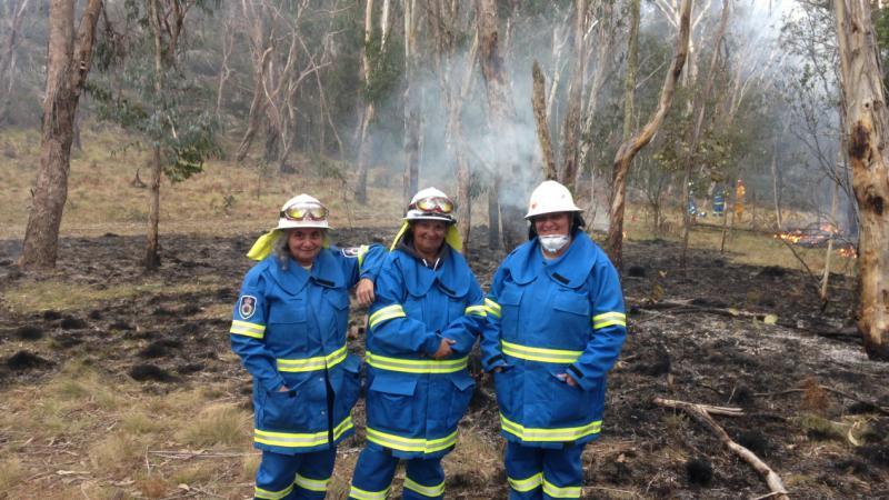Members of the Wattleridge Aboriginal rangers during a recent burn-off.