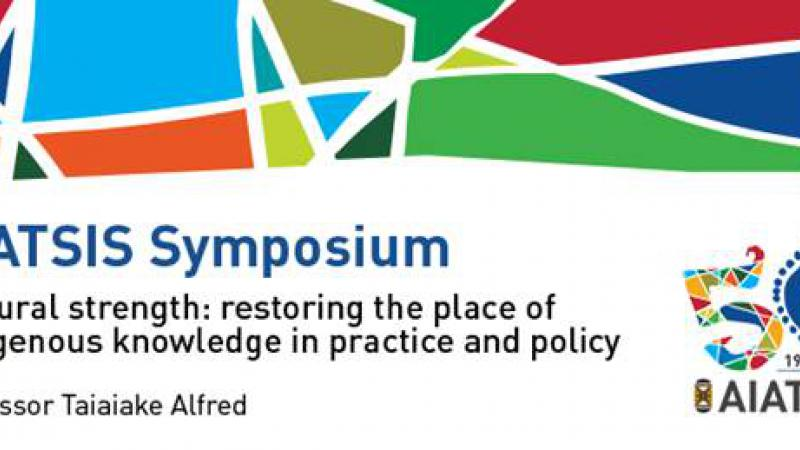 Logo of and information about the symposium