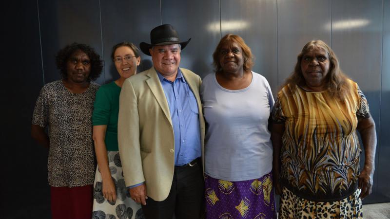 Group shot of Category A winner: Waltja Tjutangku Palyapayi Aboriginal Corporation