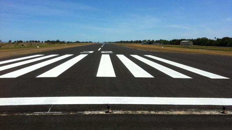 Pormpuraaw's upgraded airstrip.