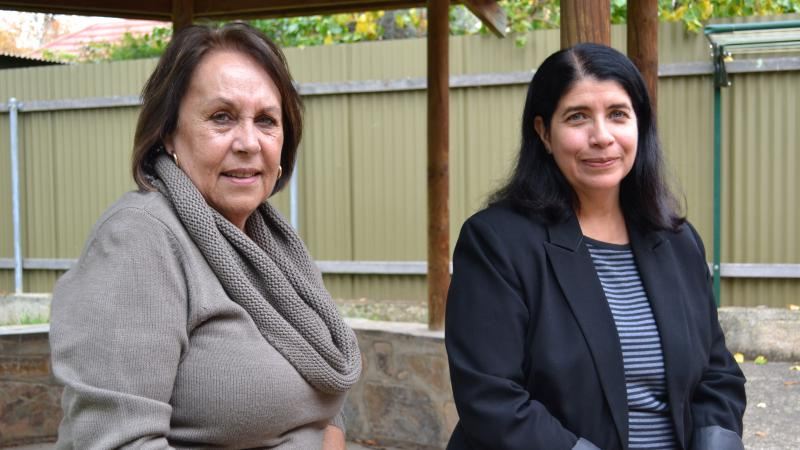 Aboriginal Elders Council of South Australia executive officer Janine Haynes with Louise Herft from Aged Rights Advocacy Service, North Adelaide, SA.