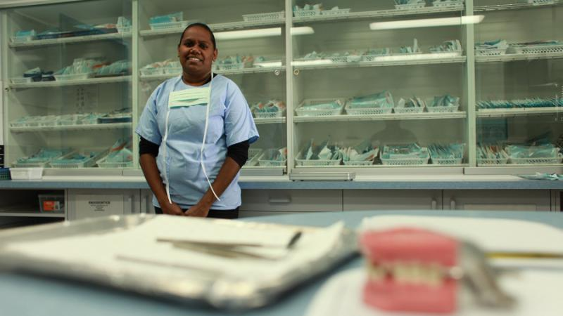Health Hero Lorena Walker is a dental nurse in Alice Springs