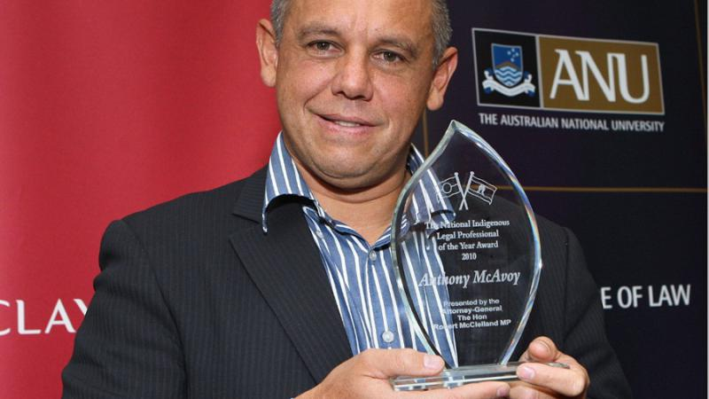 Anthony McAvoy , winner of the National Indigenous legal Professional Of the Year Award 2010