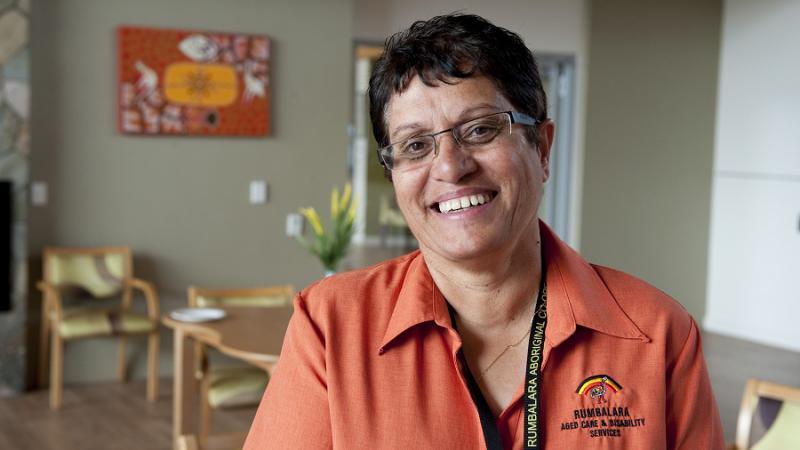 Rumbalara Aboriginal Cooperative Aged Care and Disability Services executive manager Lena Morris, Shepparton, VIC.