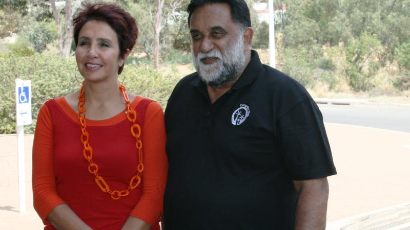 Co-Chairs of the National Congress of Australia's First Peoples, Jody Broun and Les Malezer, at the 2012 National Congress, Alice Springs.