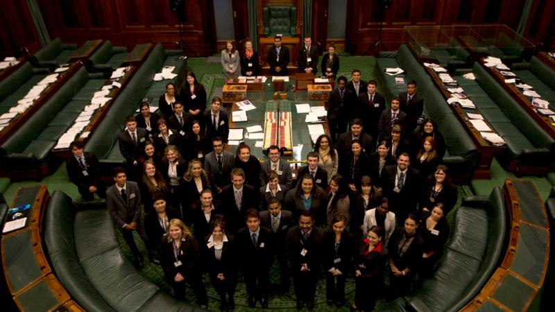 The 2012 National Indigenous Youth Parliament participants.