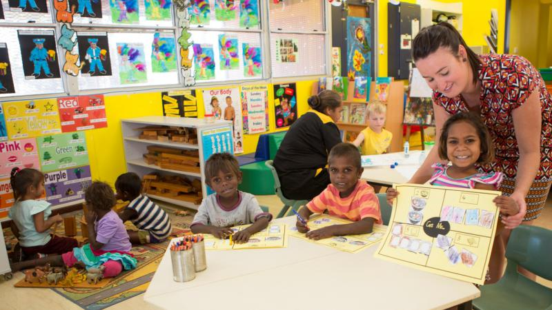 Early learning fun at La Grange Remote Community School, Bidyadanga, WA