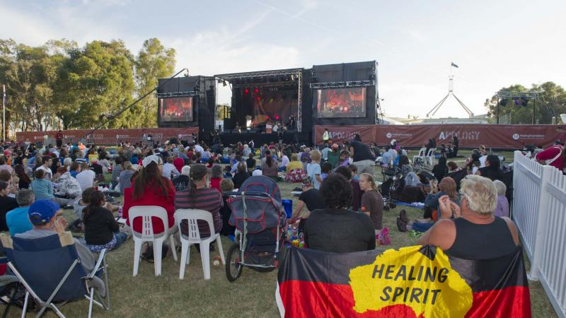 Concert on the Front Lawns of Parliament House Canberra to mark the 5th Anniversary of the Apology