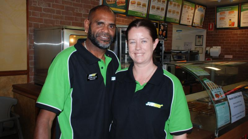 Subway franchisees Graeme and Lee Willis, Alice Springs, NT.