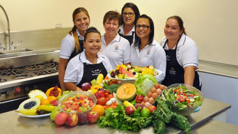 The regional tobacco and healthy lifestyle team at the Nhulundu Health Service: Photo courtesy Gladstone News Weekly