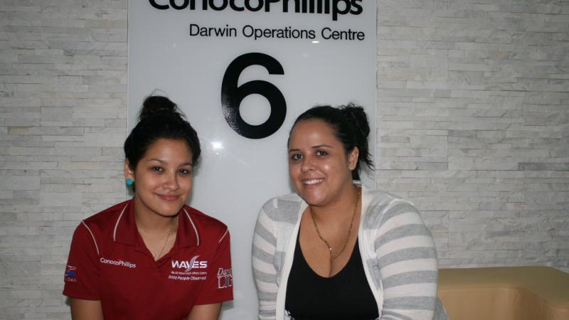 Indigenous Mines Pre-Employment Program graduates Shanhan Mullins and Jodie Brahim, Darwin, NT.
