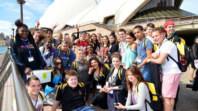Participants at the 2012 National Indigenous Youth Leadership Academy National Conference.