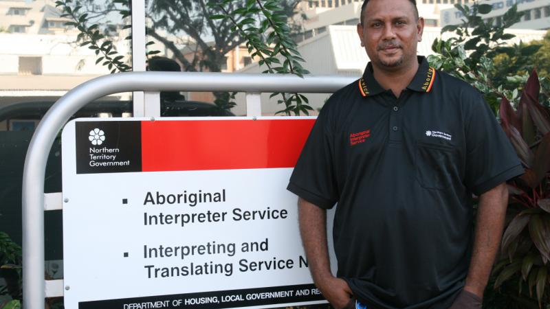 Northern Territory Aboriginal Interpreter Service interpreter Derek Hunt.