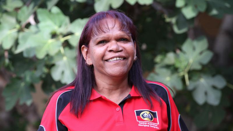 Preschool Readiness Program Aboriginal family support worker Judith Ansell, Alice Springs.