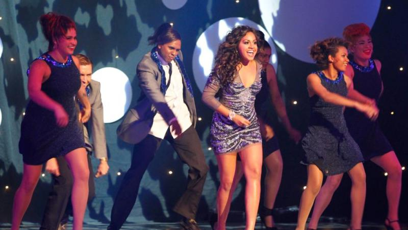 Jessica Mauboy, winner of the 2012 Deadly for Female Artist of the Year, performing the finale at last year's Deadly Awards ceremony.