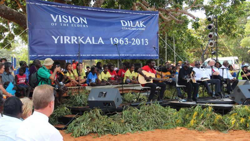Yirrkala Bark Petitions 50th anniversary ceremony, Yirrkala, NT.