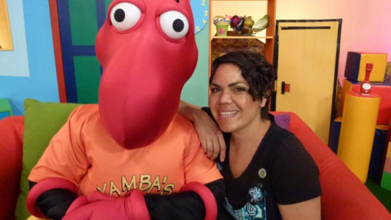 photo of Yamba the Honey Ant and best friend Jacinta Price